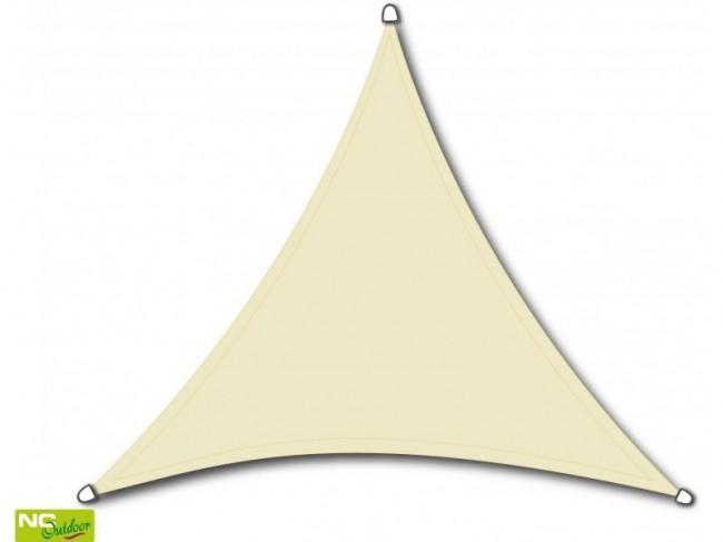 NC Outdoor schaduwdoek, driehoek, afm. 3,6 x 3,6 x 3,6 m, wit
