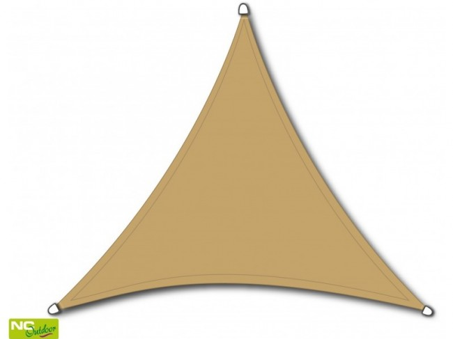 NC Outdoor schaduwdoek, driehoek, afm. 3,6 x 3,6 x 3,6 m, zand