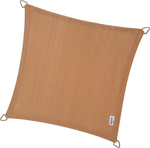 Nesling Coolfit schaduwdoek, vierhoek, afmeting 3,6 x 3,6 m, zand