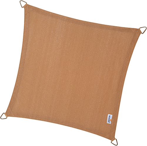 Nesling Coolfit schaduwdoek, vierkant, afmeting 5 x 5 m, zand