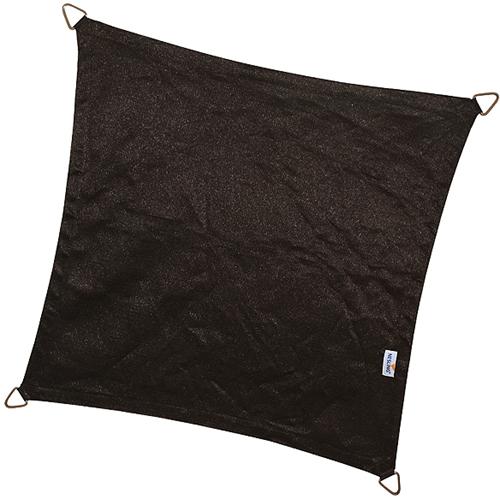 Nesling Coolfit schaduwdoek, vierkant, afmeting 3,6 x 3,6 m, zwart