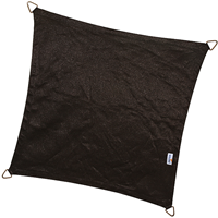Nesling Coolfit schaduwdoek, vierkant, afmeting 5 x 5 m, zwart