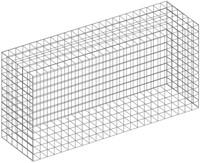 Schanskorf, afm. 120 x 60 x 30 cm, verzinkt staal, maas 5 x 5 cm