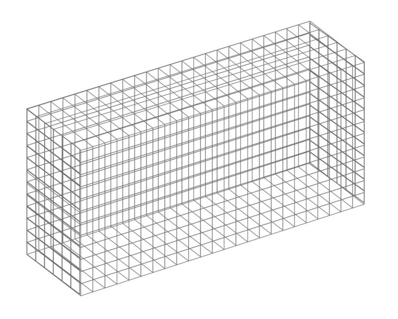 Garden Trade Schanskorf, afm. 60 x 60 x 30 cm, verzinkt staal, maas 5 x 5 cm