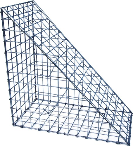 Schanskorf, afm. 60 x 85 x 30 cm, triangle, verzinkt staal, 5 x 5 cm-1