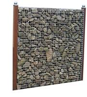 Schanskorfscherm, afm. 177 x 180 x 15 cm, maas 5 x 5 cm