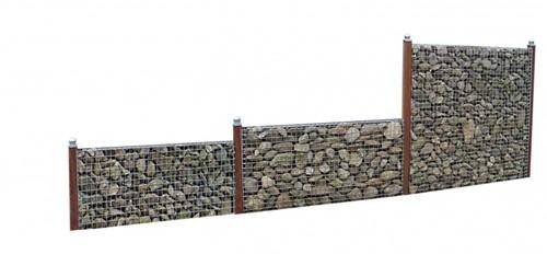 Schanskorfscherm, afm. 177 x 90 x 15 cm, maas 5 x 5 cm