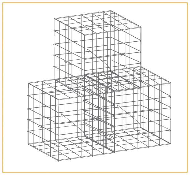 Garden Trade Schanskorf, afm. 50 x 50 x 50 cm, verzinkt staal, maas 10 x 10 cm