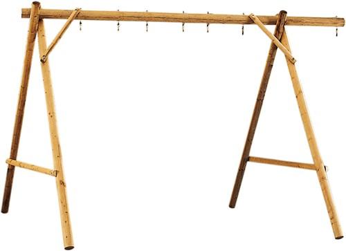 Schommel voor 4 accessoires, breedte 450 cm, geïmpregneerd hout