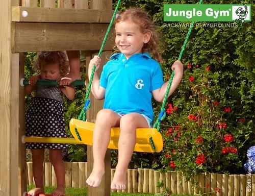 Jungle Gym schommelzitje, geel kunststof