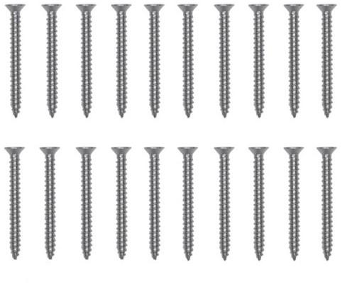 Schroeven, pakje van 20 stuks, RVS