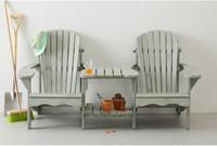 Relax tete-a-tete tuinbank, afm. ca. 178 x 98 x 90 cm, grijs grenen-3
