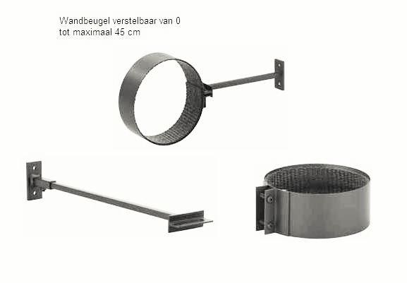 Burni verwarming Forno muurbeugel, diam. 150 mm - corten staal