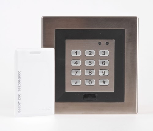 SuperJack sleutelloze bediening L, bedraad, incl. magneetkaart, afm. 125x125x22