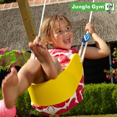 Jungle Gym Sling Swing kit, bandschommel, geel kunststof