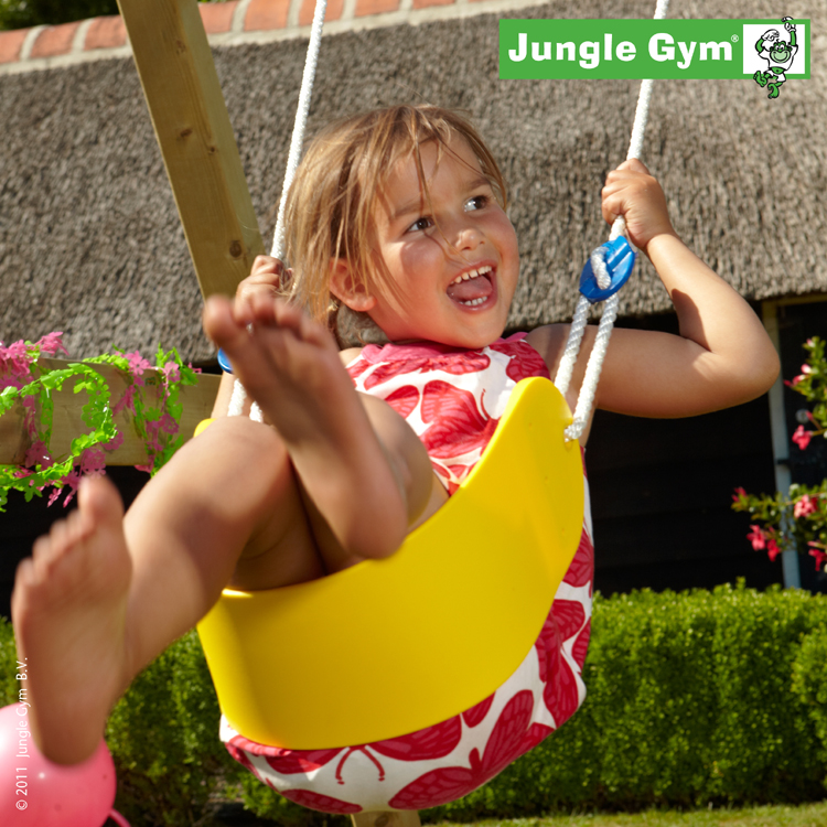 Jungle Gym Sling Swing, bandschommel, geel kunststof