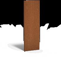 cortenstalen tuinscherm, afm.  60x5x180 cm