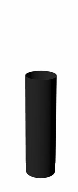 Burni verwarming kachelpijp 50 cm (smoke flue) - 154 mm - RAL 9005 gitzwart