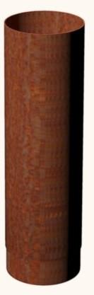 Smoke Flue 154x500mm Corten