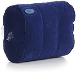 Spa pillow, opblaasbaar hoofdkussen met zuignappen