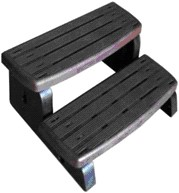Spa-step, 2-traps opstap, kleur ebony
