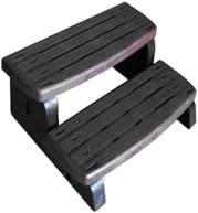 Spa-step, 2-traps opstap, kleur ebony