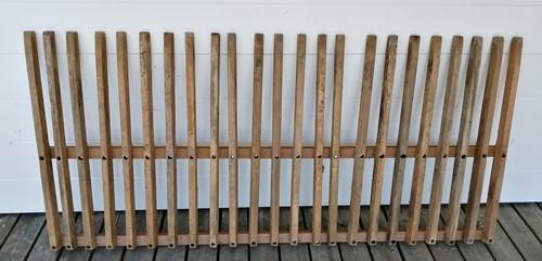 hardhouten spijlenhek, afm. 180 x 80 cm, b-keus