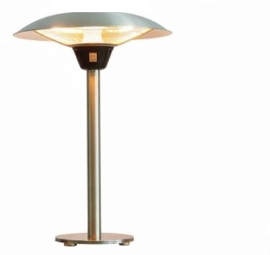 Sunred elektrische terrasheater TA15, halogeen, vermogen 2100 W, tafelmodel, rvs