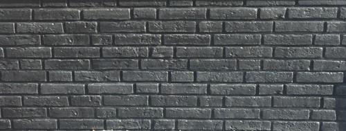betonplaat voor schutting, afm. 184x36 cm, dubbelzijdig klassieksteen motief, antraciet-1