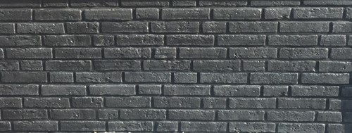 betonplaat voor schutting, afm. 184x36 cm, dubbelzijdig klassieksteen motief, antraciet