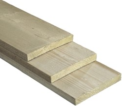 geïmpregneerde.steigerplank, afm.  3,0 x  19,0 cm, lengte  400 cm