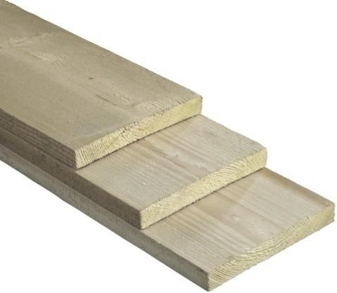 geïmpregneerde steigerplank, afm.  3,0 x  19,0 cm, lengte  400 cm