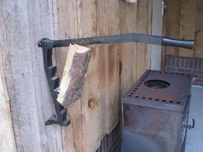 Stikkan houtklover, afm. 57 x 10 x 8 cm, inclusief bevestigingsmateriaal, gietijzer-1
