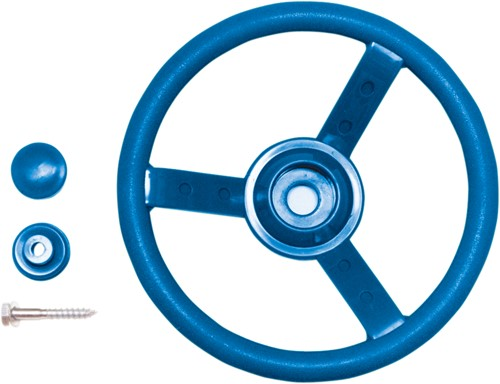 Stuurwiel, blauw kunststof