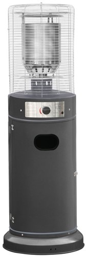 Sunred gasheater Propus Lounge, vermogen 11 kW, laag model, grijs