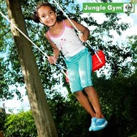 Jungle Gym Swing Seat kit red, schommelzitje, rood kunststof-2