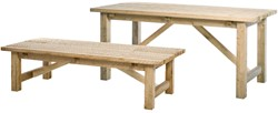 Tuintafel laag, afm. 180 x 80 cm, hoogte 48 cm,  houtdikte 40 mm