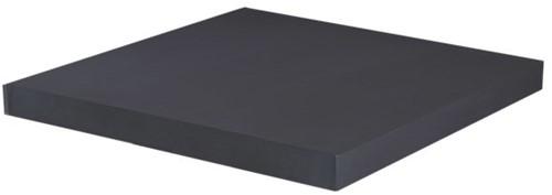 Cosi Fires tafelblad Cosicube, afm. 63 x 63 cm, hoogte 6 cm, composiet, antraciet