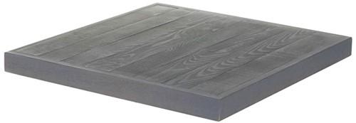 Cosi Fires tafelblad Cosicube 95, afm. 97 x 97 cm, hoogte 5 cm, douglas, grey wash