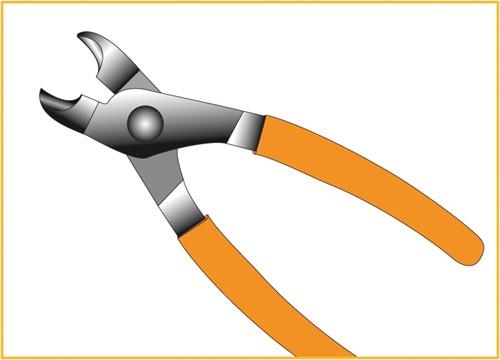 Tang, voor 19 mm schanskorfkrammen