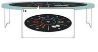 BERG trampoline Elite+ Tattoo groen, veiligheidsnet T-series, diam. 430 cm.-2
