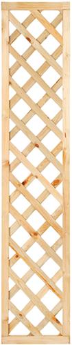 Trellisscherm diagonaal, afm.    40x180 cm, geïmpregneerd grenen