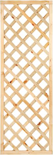 Trellisscherm diagonaal, afm.   60x180 cm, geïmpregneerd grenen