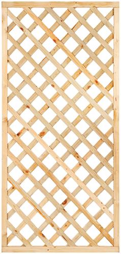 Trellisscherm diagonaal, afm.  90x 180 cm, geïmpregneerd grenen