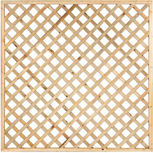 Trellisscherm diagonaal, afm. 180 x 180 cm, geïmpregneerd grenen