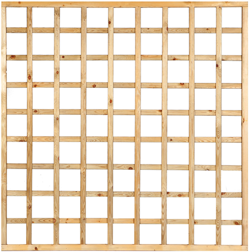 Trellisscherm recht met lijst, afm. 180 x 180 cm, geïmpregneerd grenen