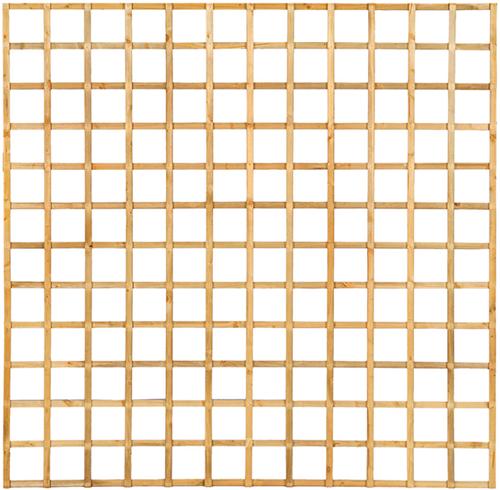 Trellisscherm recht, afm. 180 x 180 cm, geïmpregneerd grenen