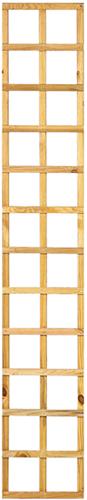 Trellisscherm recht, afm.   30 x 180 cm, geïmpregneerd grenen
