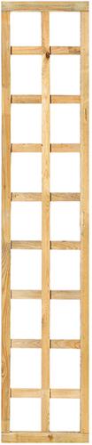 Trellisscherm recht met lijst, afm.   40 x 180 cm, geïmpregneerd grenen