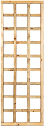 Trellisscherm recht met lijst, afm.  60 x 180 cm, geïmpregneerd grenen